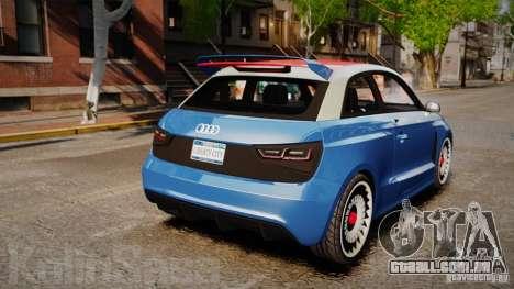Audi A1 Quattro para GTA 4 traseira esquerda vista