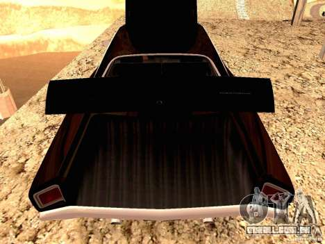Plymoth Road Runner para GTA San Andreas traseira esquerda vista