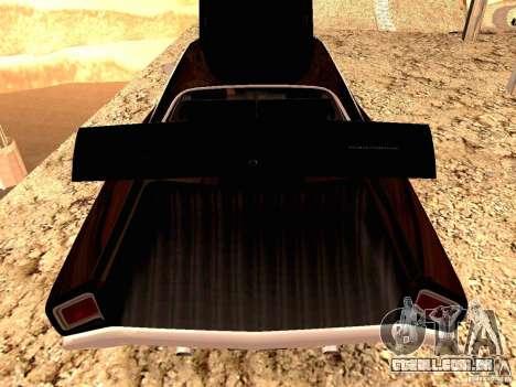 Plymoth Road Runner para GTA San Andreas traseira esquerda vista