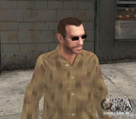 Novos óculos para Niko-preto para GTA 4 terceira tela