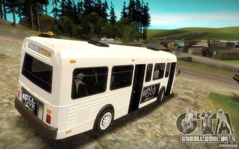 NFS Undercover Bus para GTA San Andreas esquerda vista