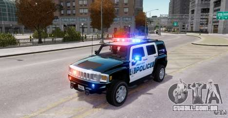 Hummer H3X 2007 LC Police Edition ELS para GTA 4 esquerda vista