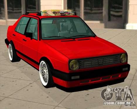 Volkswagen Jetta 1987 Eurostyle para GTA San Andreas traseira esquerda vista