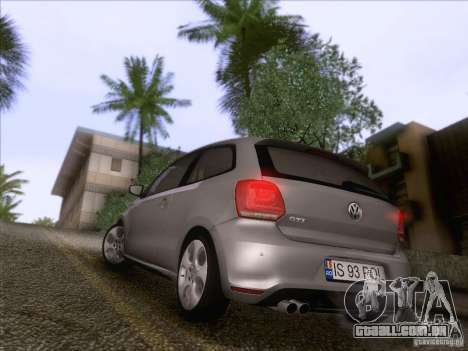 Volkswagen Polo GTI 2011 para GTA San Andreas vista traseira
