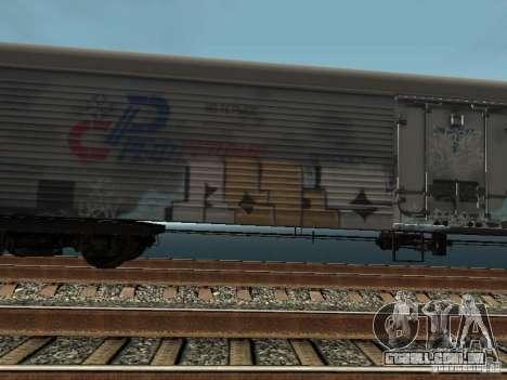 Carroça Refrežiratornyj Dessau n º 8 pintado para GTA San Andreas esquerda vista