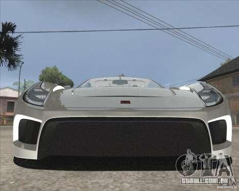 Saleen S5S Raptor para GTA San Andreas vista traseira