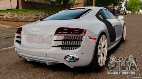 Audi R8 5.2 Stock 2012 Final para GTA 4 traseira esquerda vista