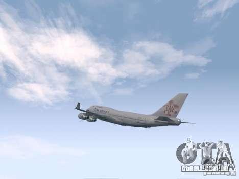 Boeing 747-400 China Airlines para GTA San Andreas vista direita