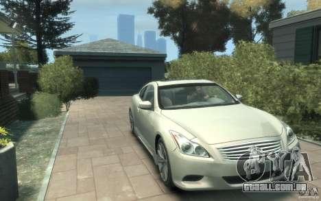 Infiniti G37 S para GTA 4 vista de volta