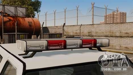 Polícia rancheiro ELS para GTA 4 vista de volta