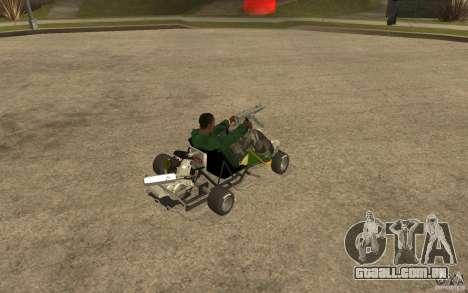 Hayabusa Kart para GTA San Andreas vista direita