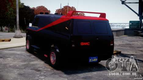 GMC Van G-15 1983 The A-Team para GTA 4 traseira esquerda vista