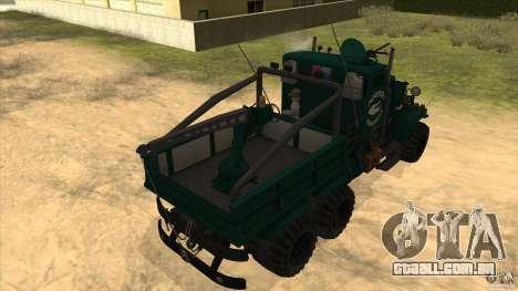 KrAZ 255 B1 Krazy-crocodilo para GTA San Andreas vista traseira