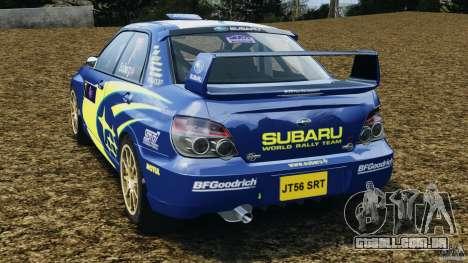 Subaru Impreza WRX STI N12 para GTA 4 traseira esquerda vista
