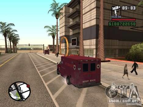Ambulância de GTA IV para GTA San Andreas esquerda vista