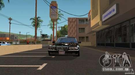 BMW E38 750LI para GTA San Andreas vista traseira