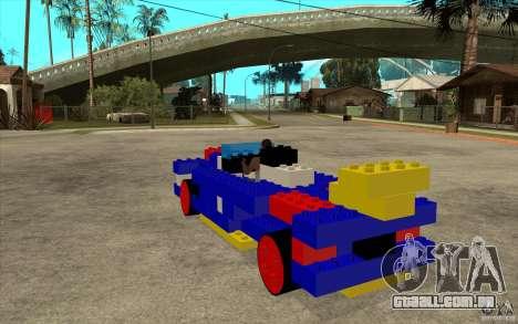 Móveis de LEGO para GTA San Andreas traseira esquerda vista
