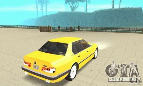 BMW 750I E32 para GTA San Andreas esquerda vista