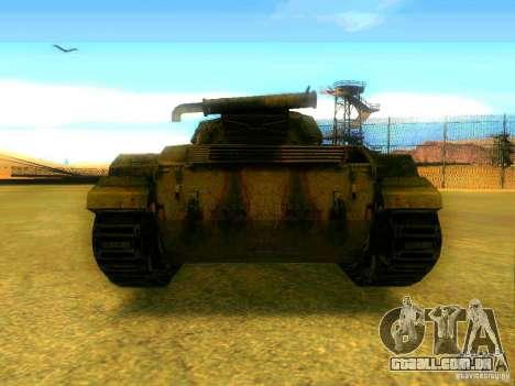 Tanque jogo S. T. A. L. k. e. R para GTA San Andreas traseira esquerda vista
