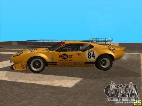1972 DeTomaso Pantera para GTA San Andreas traseira esquerda vista