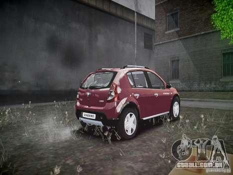 Dacia Sandero Stepway para GTA 4 vista de volta