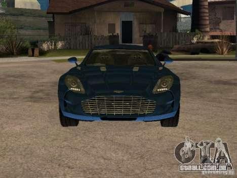 Aston Martin One77 para GTA San Andreas traseira esquerda vista