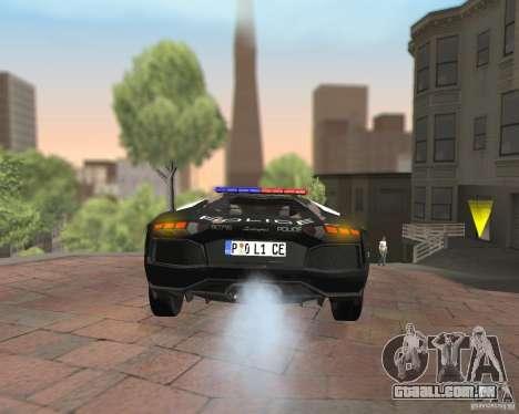 Lamborghini Aventador LP700-4 Police para GTA San Andreas vista interior