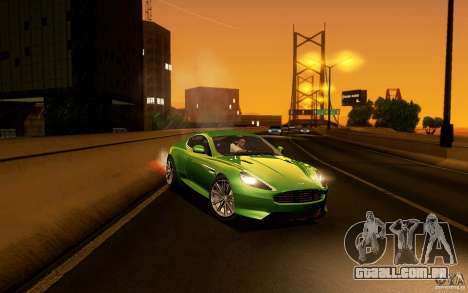 Aston Martin Virage V1.0 para vista lateral GTA San Andreas