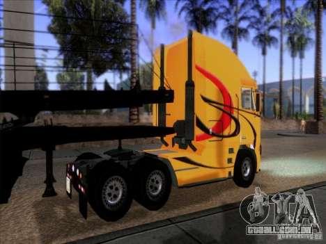 Freightliner Argosy Skin 2 para GTA San Andreas traseira esquerda vista
