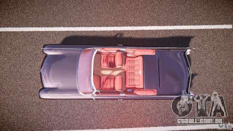 Cadillac Eldorado 1959 interior red para GTA 4 vista de volta