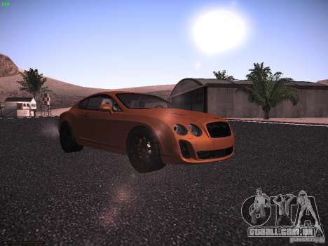 Bentley Continetal SS Dubai Gold Edition para GTA San Andreas esquerda vista