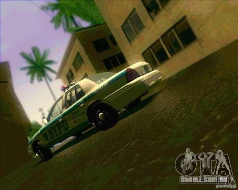 Ford Crown Victoria 2003 NYPD police V2.0 para GTA San Andreas vista interior