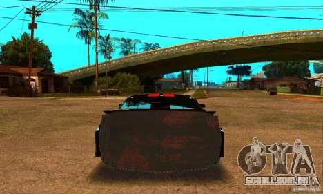 Ford Mustang Shelby GT500 From Death Race Script para GTA San Andreas traseira esquerda vista