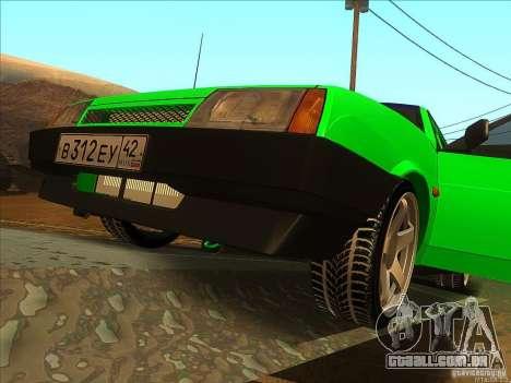 VAZ 2109 inverno para GTA San Andreas vista traseira