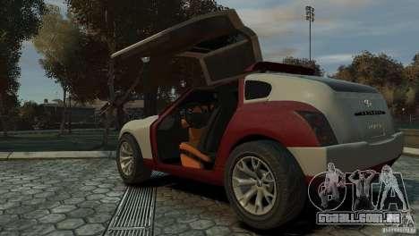 Infiniti Triant Concept para GTA 4 traseira esquerda vista