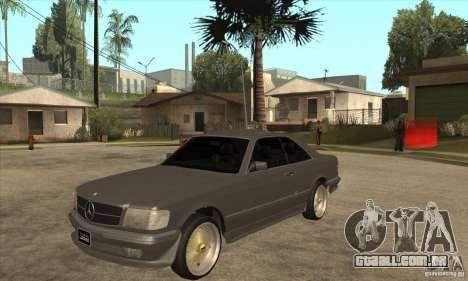 Mercedes-Benz 560 sec w126 1991 para GTA San Andreas