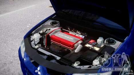 Mitsubishi Lancer Evolution VIII para GTA 4 vista de volta