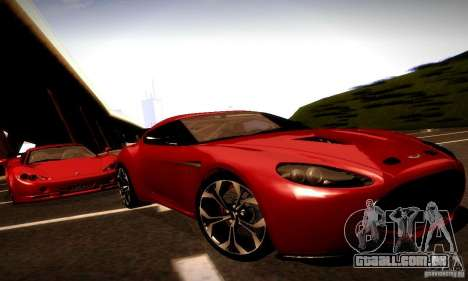 Aston Martin V12 Zagato Final para GTA San Andreas vista traseira