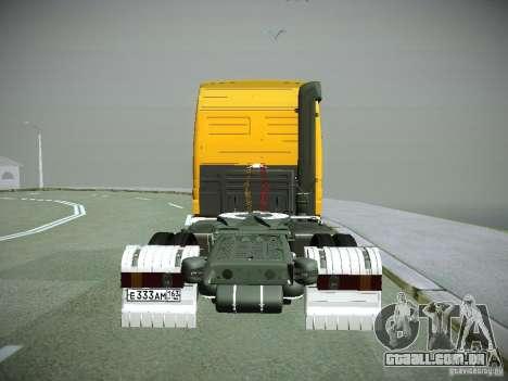 Mercedes-Benz Actros Rosneft para GTA San Andreas vista traseira