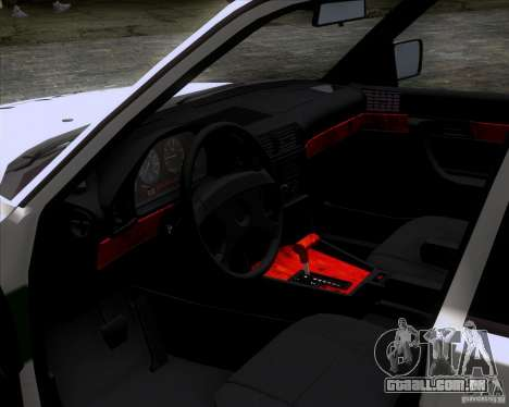 BMW E34 Policija para GTA San Andreas vista direita