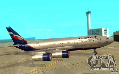 O IL-96-300 Aeroflot em novas cores para GTA San Andreas traseira esquerda vista