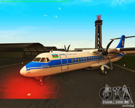 ATR 72-500 Azerbaijan Airlines para GTA San Andreas vista interior