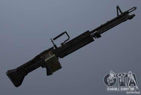 M60 para GTA San Andreas quinto tela