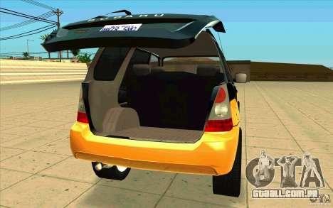Subaru Forester Cross Sport 2005 para GTA San Andreas vista traseira