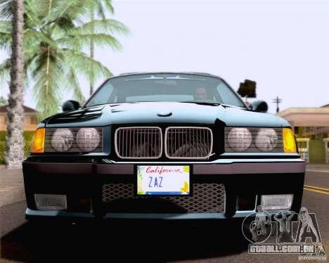 BMW M3 E36 New Wheels para GTA San Andreas vista superior