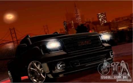 GMC Sierra 2011 para GTA San Andreas vista superior