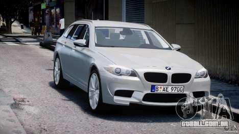 BMW M5 F11 Touring para GTA 4 vista de volta