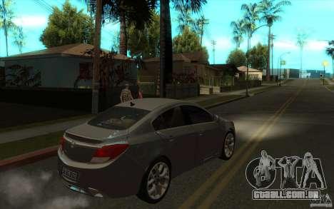 Opel Insignia 2011 para GTA San Andreas vista direita