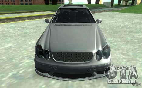Mercedes-Benz CLK55 AMG para GTA San Andreas vista traseira