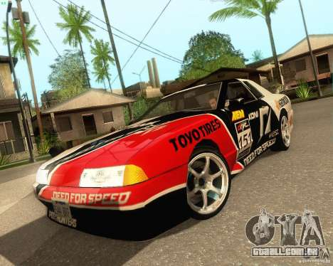 Need for Speed Elegy para GTA San Andreas vista traseira
